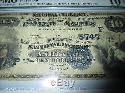 10 $ 1882 Ashland Oregon Ou Note De Banque Nationale Bill Bank Ch. 5747 Valeur Retour