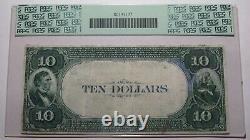 10 $ 1882 Madison New Jersey Nj Banque Nationale Monnaie Note Bill # 2551 Valeur Retour