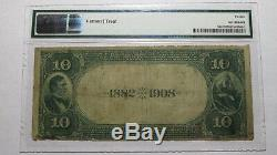 10 $ 1882 Mcalester Oklahoma Ok Banque Nationale Monnaie Note Bill Ch. # 5052 Date