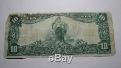 10 $ 1902 Allentown Pennsylvania Pa Banque Nationale Monnaie Note Bill! Ch. # 1322