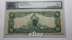 10 $ 1902 Arkansas Ar Bentonville Monnaie Nationale De Billets De Banque Bill Ch. # 7523 Vf25