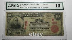10 $ 1902 Banque Nationale Monnaie Sceau Rouge Harrisburg En Pennsylvanie Bill Note! # 201