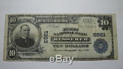 10 € 1902 Billet De Banque Bessemer Alabama Al, En Monnaie Nationale! Ch. # 6961 Vf