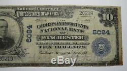 10 € 1902 Billet De Banque En Monnaie Nationale Winchester Virginia Va! Ch. # 6084 Rare