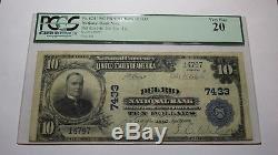10 $ 1902 Billet De Banque Libellé En Devise Nationale Del Rio Texas Tx! Ch. # 7433 Vf Pcgs