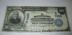 10 $ 1902 Billet De Billet De Banque En Monnaie Nationale Du New Jersey Nj À Irvington! Ch # 7981 Rare