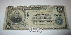 10 € 1902 Billet De Billet De Banque En Monnaie Nationale Orange Virginia Va! Ch. # 5438 Fin