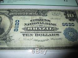 $ 10 1902 Brésil Indiana In Note De La Banque Nationale Note Bill # 8620 Fine Pcgs