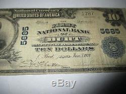 10 $ 1902 Burt Iowa Ia Billets De Billets De Banque Nationale Bill! Ch. # 5685 Bien! Rare