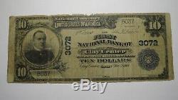 10 $ 1902 Clay Center Kansas Ks Banque Nationale Monnaie Note Bill! Ch. # 3072 Rare