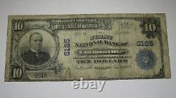 10 $ 1902 Collinsville Illinois IL Monnaie Nationale Note De La Banque Bill Ch. Numéro 6125