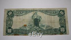 10 $ 1902 Colorado Colorado Springs Co Banque Nationale Monnaie Note Bill Ch. # 8572