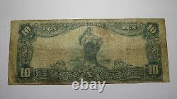 10 $ 1902 Danville Virginia Va National Currency Bank Note Bill! Ch. #1985 Rare