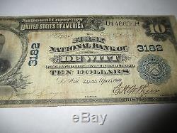 $ 10 1902 De Witt Iowa Ia Billet De Banque Nationale Billet Bill! Ch. # 3182 Rare