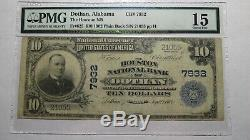 10 $ 1902 Dothan Alabama Al Banque Nationale Monnaie Note Bill! Ch. # 7932 Pmg F15
