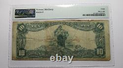 $10 1902 Downers Grove Illinois IL National Currency Bank Note Bill Ch. #9725