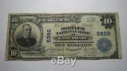 10 $ 1902 East Brady Pennsylvanie Pa Banque Nationale Monnaie Note Bill! # 5356 Fin