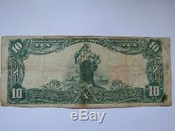 10 $ 1902 Facture De Billet De Banque En Monnaie Nationale Du Mississippi Ms De Jackson! # 6646 Fin
