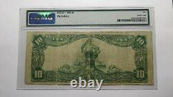 10 $ 1902 Fergus Falls Minnesota Mn Banque Nationale Monnaie Note Bill Ch. # 2648