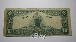 10 $ 1902 Freeburg Illinois IL Banque Nationale Monnaie Note Bill Ch. # 7941 Rare