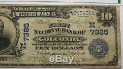 10 $ 1902 Golconde Illinois IL Banque Nationale Monnaie Note Bill Ch. # 7385 F15 Pmg