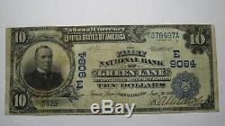 10 € 1902 Green Lane Pennsylvanie Pa Billet De Banque National - Bill Ch. 9084 Vf