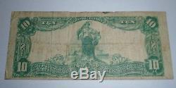 10 $ 1902 High Point Billets De Banque En Monnaie Nationale Caroline Du Nord Nc Bill Ch. # 4568