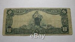 10 $ 1902 Illinois Herrin IL Banque Nationale Monnaie Note Bill! Ch. # 8670 Fin