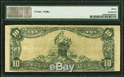 10 $ 1902 Long Branch New Jersey Nj Banque Nationale Monnaie Note Bill Ch # 6038 F15