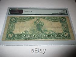 $ 10 1902 Mason City Iowa Ia National Currency Note De La Banque Bill Ch. # 2574 Fine! Pmg