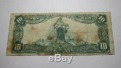 10 $ 1902 Monessen Pennsylvania Pa Banque Nationale Monnaie Note Bill! Ch. # 5253