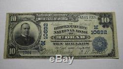 10 $ 1902 Mt. Orab Ohio Oh Banque Nationale Monnaie Notez Bill Ch. # 10692 Fine Mont