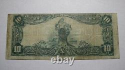 10 $ 1902 Port Jervis New York, Ny Banque Nationale Monnaie Note Bill! Ch # 94 Vf
