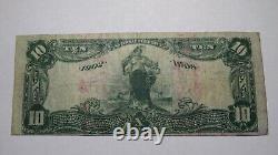 10 1902 $ York Nebraska Ne Monnaie Nationale Banque Note Bill Ch. #2683 Rare