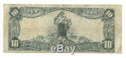 10 $. 1903 Shelby N. C. Banque Nationale Monnaie Note Bill Ch. # 6776 Grand Format