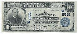 10 $. 1907 Fairmont Minnesota National Currency Bank Note Bill Ch. # 8551