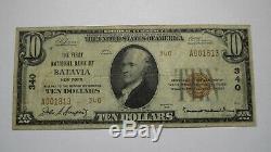 10 $ 1929 À New York Ny Batavia Banque Nationale Monnaie Note Bill Ch. # 340 Fin