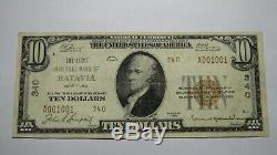 10 $ 1929 À New York Ny Batavia Banque Nationale Monnaie Note Bill! Ch. # 340 Vf ++