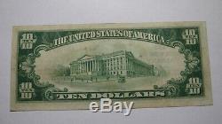 10 $ 1929 Albany, Géorgie Géorgie Billet De Banque! Ch. # 5512 Vf