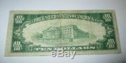 10 $ 1929 Ashland Kentucky Ky Banque Nationale Monnaie Note Bill Ch. # 12293 Fin