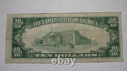 10 $ 1929 Atlantic Highlands New Jersey Nj Banque Nationale Monnaie Note Bill # 4119