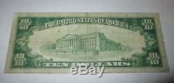 $ 10 1929 Azusa California Ca Billet De Banque National Bill Ch. # 8065 Fin