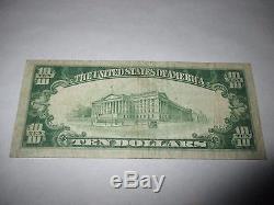 $ 10 1929 Barre Vermont Vt Banque Nationale De Billets De Banque Note! Ch. # 7068 Fine