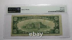 10 $ 1929 Bartlesville Oklahoma Ok National Currency Bank Note Bill Ch #9567 Vf25