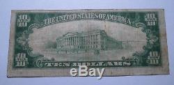 10 $ 1929 Batavia Illinois IL Billets De Banque En Billets De Banque Nationaux Bill Ch.