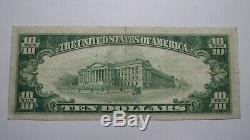 10 $ 1929 Bentleyville Pennsylvania Pa Banque Nationale Monnaie Remarque Le Projet De Loi # 9058 Xf +