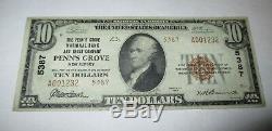 10 $ 1929 Billet De Banque De La Monnaie Nationale Du Penn's Grove Dans Le New Jersey Dans Le New Jersey (nj)