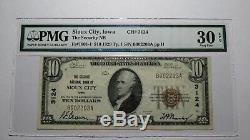 10 $ 1929 Billet De Banque En Monnaie Nationale De 1929 De Sioux City, Iowa Ia Bill Ch. # 3124 Vf30epq
