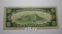 10 $ 1929 Billet De Banque En Monnaie Nationale De Tampa En Floride, Floride, Bill Ch. # 3497 Vf! Baie