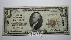 10 $ 1929 Billet De Banque En Monnaie Nationale Du Ks Kansas La Kansas Ch. # 7226 Vf